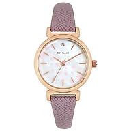 Đồng hồ thời trang Nữ chính hãng Nhật Bản SUNFLAME MJOE9084, dây da, mặt hoa anh đào - Galle Watch thumbnail