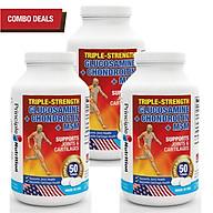 [COMBO] Viên hỗ trợ giảm đau TRIPLE-STRENGTH GLUCOSAMINE USA phục hồi chức năng sụn khớp xương tăng tiết dịch ổ khớp tăng tuần hoàn máu giảm thoái hóa khớp nếp nhăn và co thắt cơ bắp thumbnail