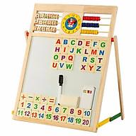 Bảng gỗ 2 mặt học chữ và số cho bé thumbnail
