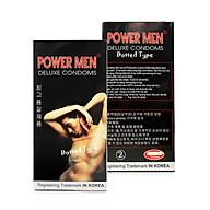 Bao Cao su Powermen Dotted Thân Bi Nổi Li Ti, Tăng Cường Gel Bôi Trơn 12 Chiếc thumbnail