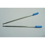 Bộ 10 Ruột bút bi kiểu xoay - mực màu xanh ruột dài thumbnail