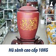 Hủ Sành Đựng Gạo Có Nắp Màu Nâu Đỏ Gốm Sứ Bat Trang thumbnail