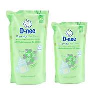 Combo Nước Rửa Bình Sữa Dạng Túi D-nee - Xanh lá (400ml+600ml) thumbnail