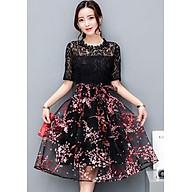 Đầm Nữ Ren Thêu Hoa Anh Đào DR8869 - Đen thumbnail