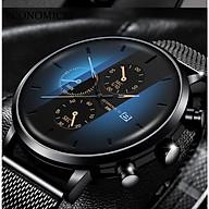Đồng hồ nam business VINIEL thiết kế economicxi chất liệu dây thép phong cách thanh lịch VE118 Hàng Chính Hãng thumbnail