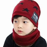 Set khăn len kèm mũ hình sao (màu ngẫu nhiên) thumbnail