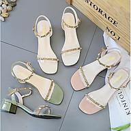 Giày Cao Gót 3p Đính Đá Cao Cấp Phong Cách Hàn Quốc MPS209 - Mery Shoes thumbnail