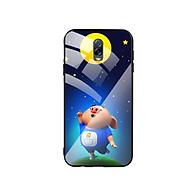 Ốp Lưng Kính Cường Lực cho điện thoại Samsung Galaxy J7 Plus - Pig Cute 07 thumbnail