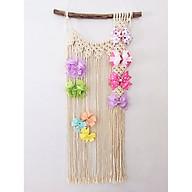rèm treo nơ cho bé gái dây treo trang trí macrame handmade thumbnail