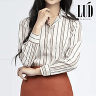 Áo sơ mi nữ sọc cách điệu LUD Fashion thumbnail