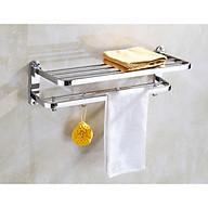 Giá treo khăn tắm 2 tầng + móc treo SUS304 thumbnail