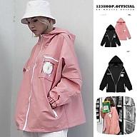 Áo khoác dù 123SHOP in hình hoa cúc SAVA dành cho nam cho nữ có mũ, jacket form rộng có 2 màu unisex ulzzang thumbnail