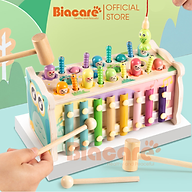 Bộ đồ chơi đập chuột bằng gỗ đa năng. Đồ chơi giáo dục sớm cho bé từ 1 đến 4 tuổi thumbnail