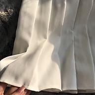 Chân váy xếp ly nữ màu trắng thumbnail