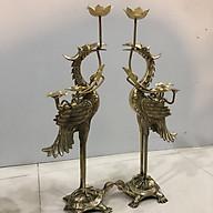 Đôi hạc thờ cúng bằng dồng nguyên chất cao 60cm thumbnail