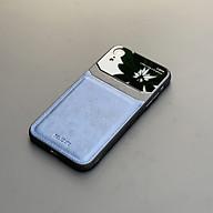 Ốp lưng da kính cao cấp dành cho iPhone XR - Màu xanh - Hàng nhập khẩu - DELICATE thumbnail