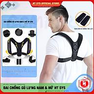 Đai Chống Gù Lưng và Định Hình Lưng cao cấp HT SYS Back Posture Corrector - HTBPC01 HTBPC02 - Giúp định hình lại dáng đứng, tư thế ngồi, hỗ trợ làm giảm tình trạng gù lưng, vẹo cột sống thumbnail