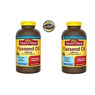 Viên Uống Dầu hạt lanh Nature Made Flaxseed Oil 1400 mg Omega 3-6-9 (300 Viên) - Nhập khẩu Mỹ, ngăn ngừa ung thư và các bệnh về tim mạch, huyết áp thumbnail