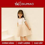 Đầm váy bé gái DKA1092 GUMAC thiết kế yếm caro xòe thumbnail