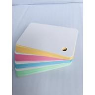 100 Thẻ Flashcard Màu Thái 5x8cm Kèm Khoen Bìa thumbnail