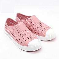 - Giày hồng nhạt đế trắng, giày nhựa đi mưa, đi biển siêu êm mềm nhẹ, không thấm nước thumbnail