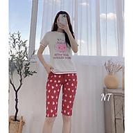 SALE SỐC Đồ bộ nữ ngố cộc tay bộ mặc nhà cotton mịn đẹp dễ thương thumbnail