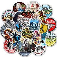 Bộ 50 Sticker Games of Thrones dán Macbook, Vali, Mũ bảo hiểm, Điện thoại, Laptop thumbnail