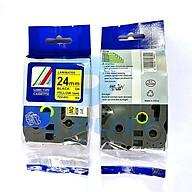 Nhãn in TZ2-251_TZ2 -651 Chữ đen trên nền trắng_ nền vàng 24mm - Hàng nhập khẩu thumbnail
