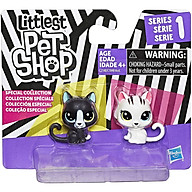 Đồ chơi mô hình Bộ đôi mèo con Black and White LITTLEST PET SHOP C2148 C1848 thumbnail