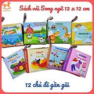 Đồ chơi Sách vải cho bé- Sách vải kích thích Thị giác, thính giác và xúc giác thumbnail