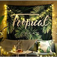 Tranh vải treo tường họa tiết tropical trang trí phòng khách,phòng ngủ có tặng kèm móc treo và đèn nháy thumbnail