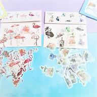 Combo 2 Bộ 32 Sticker Hình Dán Mini Hồng Hạc Va Hoa Sen thumbnail