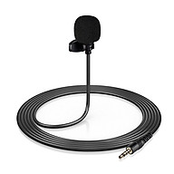 Mini Clip-on Lapel Lavalier Condenser Microphone with 3-Pin 3.5mm Plug 3 Meters Cable for Live thumbnail