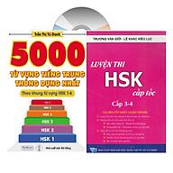 Combo 2 sách 5000 từ vựng tiếng Trung thông dụng nhất theo khung tư vư ng HSK1 đê n HSK6 va ho c tiê ng trung luyê n thi câ p tô c tâ p 2 3+4 _VD (Tiếng Trung giản thể, bính âm Pinyin, nghĩa tiếng Việt, DVD tài liệu đi kèm thumbnail