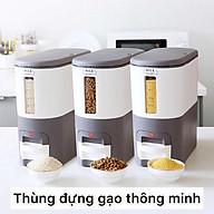 Thùng đựng gạo thông minh, thùng gạo mini phong cách hiện đại thumbnail