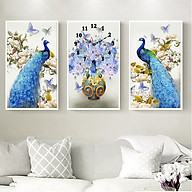Tranh treo tường, tranh đồng hồ DH5167A bộ 3 tấm ghép thumbnail