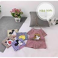 Set Bộ Cộc Tay Thun Cotton Kẻ Sọc In Hoạt Hình Cho Bé Gái Trai - HAPY SB541 thumbnail