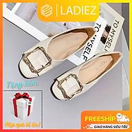 Dép Sục Nữ Thời Trang Cao Cấp Ladiez Giày Búp Bê Da Mềm Êm Chân Mũi Vuông Đế Bệt Xinh Xắn Siêu Đẹp thumbnail