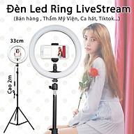 (Loại Chuẩn) Bộ Đèn LedRing LiveStream Cỡ 33cm Cao 2m1 KhoNCC Hàng Chính Hãng - Phù Hợp Idols , YouTube, Tiktok, Thẩm Mỹ Viện Phun Xăm, Bán Hàng - KLM-LEDRING33CM-FULL (Đen Trắng) thumbnail