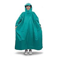 Áo mưa bít người vải dù tổ ong cao cấp freesize - Xanh ngọc thumbnail