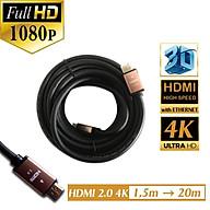 Cáp HDMI 2.0, 4K Dây Tròn 3m thumbnail
