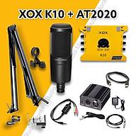 Bộ Mic Hát Livestream Soundcard XOX K10 2020 & Mic AT2020 Chất Lượng Cao, Âm Thanh Cực Kỳ Sống Động - Hàng Chính Hãng thumbnail