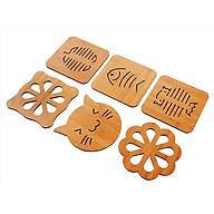 Combo 6 lót nồi gỗ chịu nhiệt nhiều hình dễ thương - giao hình ngẫu nhiên thumbnail