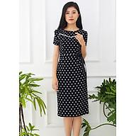 Đầm Ôm Công Sở Kiểu Đầm Ôm Nhẹ Chấm Bi Phối Ruy Băng GOTI3046 thumbnail