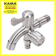 Vòi hồ inox 304, vòi nước máy inox 304 KAMA PK08, vòi nước máy giặt đa chức năng, vòi nước rửa tay đa chức năng inox 304 - cân nặng 395 gram, màu sắc nguyên bản không gỉ - Hàng mới 2020 thumbnail