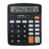 Portable Electronic Calculator 12 Digit Large Display LCD Big Buttons Desktop Calculator Battery Powered with Time Date thumbnail