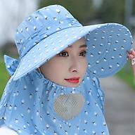 Nón chống nắng vành rộng mát có khẩu trang 2 lớp bảo vệ sức khỏe mũ che nắng kèm dây thắt dễ dàng sử dụng thumbnail