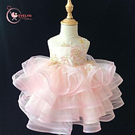 Đầm công chúa Ruffle trắng (hồng) cho bé từ 1 - 12 tuổi thumbnail