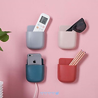 Hộp đựng remote, điện thoại dán tường có lỗ cắm sạc (Giao màu ngẫu nhiên) thumbnail