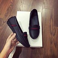 Giày moca đen thumbnail